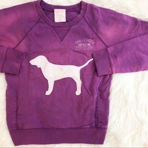 PINK Victoria Secret Purple Distressed Sweatshirt